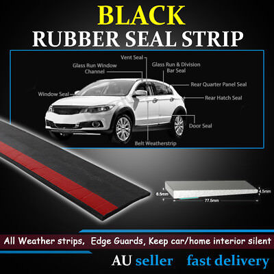 Self Adhesive Car Van Exterior Slide Out Wiper Seal w/out Bulb Rubber Seal Trim