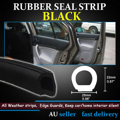 Super Large D type Trim Heavy Duty Car Edge Cover Rubber Seal Strip All Weather