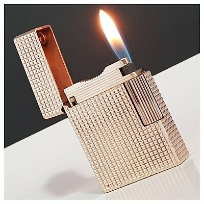 Briquet gaz* St Dupont Paris * pointe diamant-Pink Gold.Plate-Lighter-Feuerzeug