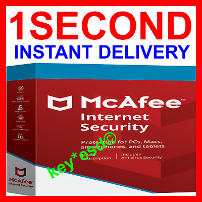 McAfee INTERNET Security 2019 2018 Windows Antivirus || 1 PC 6 Months || INSTANT