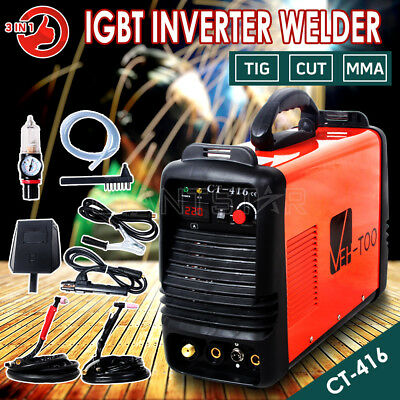VEH-TOO 3in1 CT-416 Inverter Welder TIG MMA ARC Plasma Cutter Welding Machine