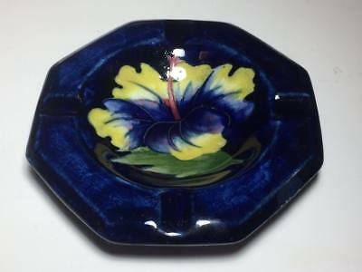 Moorcroft hibiscus ashtray Made in England