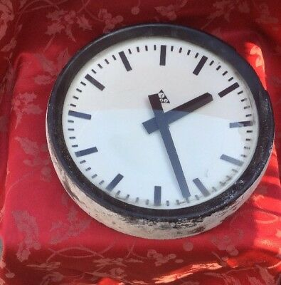 Vintage Dial Clock Good Dial Case Hands Damaged Case For Spares Repair