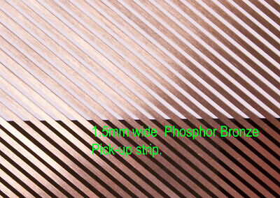 8 X 1.5mm wide phosphor bronze loco power pick-up strip. 180mm lengths.