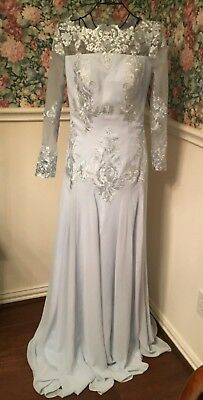 Long sleeve, Mother of the Bride,Evening Formal Wedding Party Gown