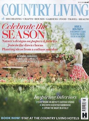 """Country Living Magazine - May  2018 """"Celebrate the season"""" (BRAND NEW/SEALED)"""