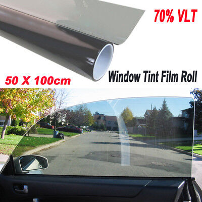 1 Roll 50cm*1M Black Glass Window Tint Shade Film VLT 70% Auto Car SUV House