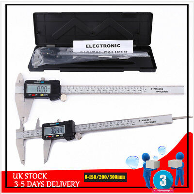 150mm 200mm 300mm Stainless Digital Vernier Caliper LCD Micrometer Gauge Ruler
