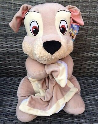 "*NEW* Extra Large 22.5"" Disney LADY & THE TRAMP TRAMP PUPPY Soft Plush Toy"
