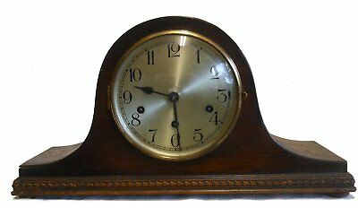 Beautiful antique Westminster chimes Napoleon hat clock in working condition.