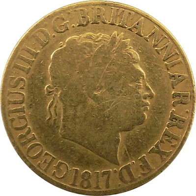 1817 Gold Full Sovereign - First Year King George III