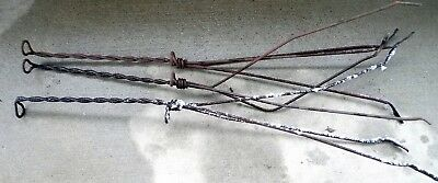 Vintage 1920s Lightening Rods Lot of Three Twisted Metal Tripod