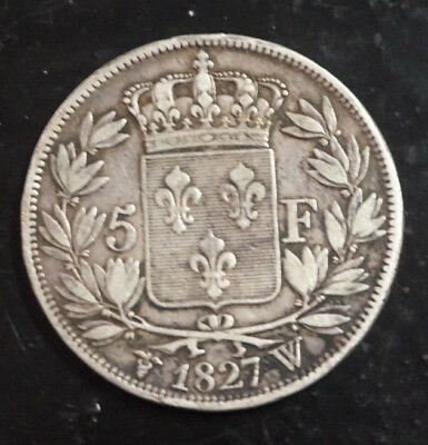 5 francs Charles X - 1827 W - Argent/Silver