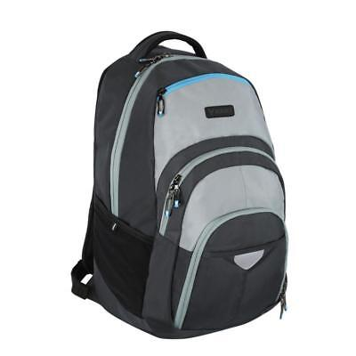 "BONDKA BK153-04012-GRY8 Backpack w/ Pockets & Compartments Fits 15"" Laptop -"