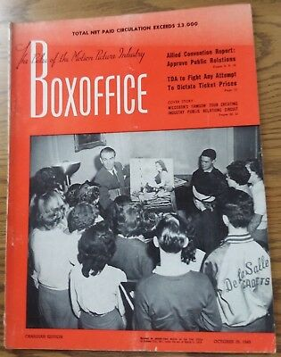 Vintage October 29,1949 BOXOFFICE Magazine  Canadian Edition