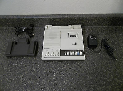 NORELCO MC-3000 TRANSCRIBER  DICTAPHONE with Foot Pedal + Power Supply