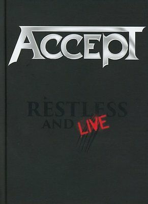 ACCEPT Restless And Live BOX 2CD+1DVD Limited Edition Nuovo