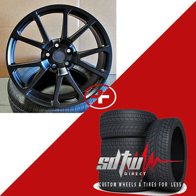 """20"""" CTS Style Wheels & Tires Satin Black fits Cadillac CTS Coupe Sedan CTS-V"""