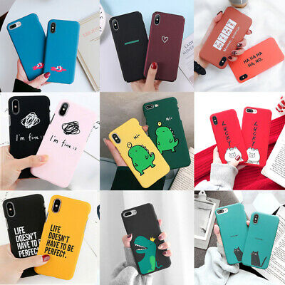 For Apple iPhone X 8 6s 7 6 Plus Cute Pattern Slim Rigid Plastic Hard Case Cover