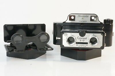 CORONET 3-D STEREO CAMERA w/VIEWER **MADE IN ENGLAND**