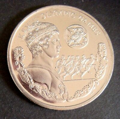 2003 Olympic Coin Copper Nickel Xxviii Olympic Games Coin British Virgin Islands