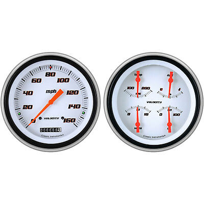 Classic Instruments CH51VSW52 Velocity Series White Gauge Package 1951-52 Chevy