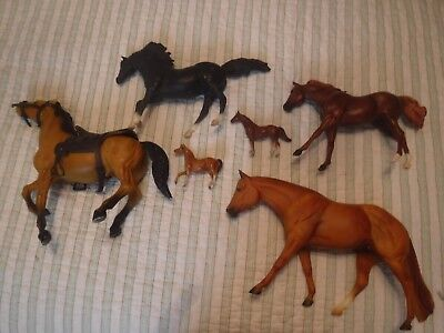 Lot Of 6 Breyer Molding Co. Toy Horses