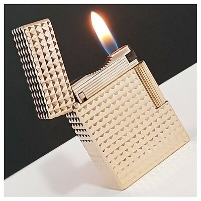 Briquet gaz* St Dupont Paris * grosse pointe-Pink Gold.Plate-Lighter-Feuerzeug