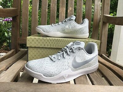 82f060326d34 Nike Mamba Instinct Kobe Bryant Basketball Shoes White Gray 852473-100  Men s NEW