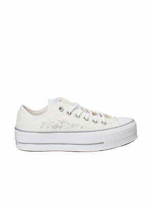 e575ac2320a1f Converse all star scarpa donna sneakers pizzo platform art. 561288C col.  bianco