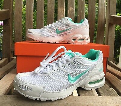 NIKE AIR MAX Torch 4 Running Shoes White Turquoise 343851 100 Women's NEW