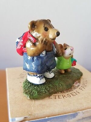 Wee Forest Folk M-245 MOUSIE'S BIG PAL Mole Hole Special 00 Green Sm Mouse  MINT