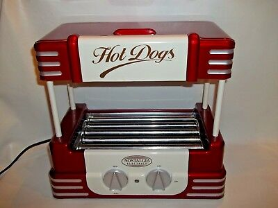 Hot Dog Roller Bun Warmer Nostalgia Adjustable Machine Retro 50's Hot Dog Roller