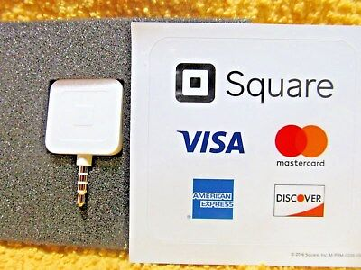 Square Credit Card Reader for Apple iPhone & Android White NEW Ships Daily