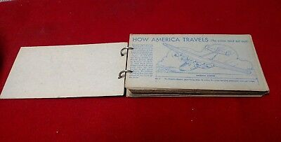"1940's Nabisco,"" How America Travels"",  cards cutout and color set lot"