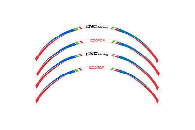 CNC 17 Inch Wheel Stripes Kit Pramac Racing Limited Edition Blue/Red WK002PR