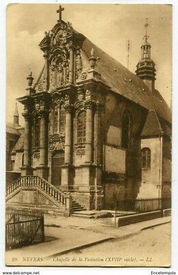 CPA - Carte postale - FRANCE - Nevers - Chapelle de la Visitation -1917 (CP3355)