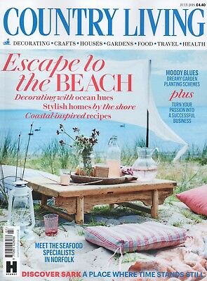 """Country Living Magazine - July 2018 """"Escape to the beach"""" (BRAND NEW/SEALED)"""