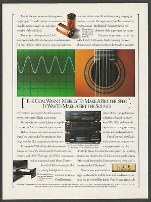 ELITE by Pioneer  - Stereo System -1991 Print Ad