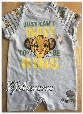 Disney The Lion King Simba Romper Baby Girl 0-24 Months