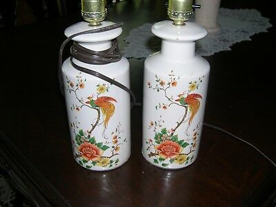 Pair of Vintage Hand Painted Lamps - Estate Sale