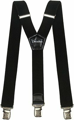 Buyless Fashion Heavy Duty Wide Adjustable and Elastic Men's Suspenders