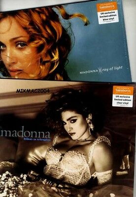 Madonna  Like A Virgin / Ray Of Light (Blue & Clear Colour) Lp Vinyl Set Sealed