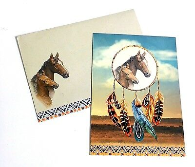 Native American Indian Greeting Birthday Card Lakota Sioux Horse