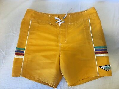 ad9ce88f3f Hobie Surfboards By Hurley Board Shorts Women's Yellow Swim Shorts Size 34