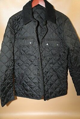 #132 Barbour 'Tinford' Regular Fit Quilted Jacket Size Small  BLACK