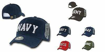 Air Force Marines Navy Coast Guard Army Military Vintage Look Baseball Hat Cap