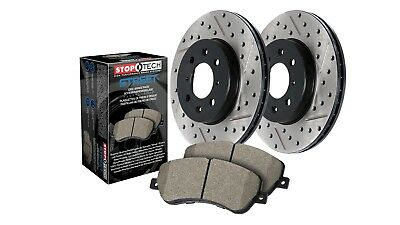 StopTech 938-33536 Street Axle Pack Rear Incl. Slotted And Drilled Rotors And Pa