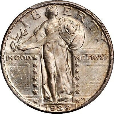 1929 25C Full Head Standing Liberty Quarter PCGS MS 66 CAC Can't Do Much Better