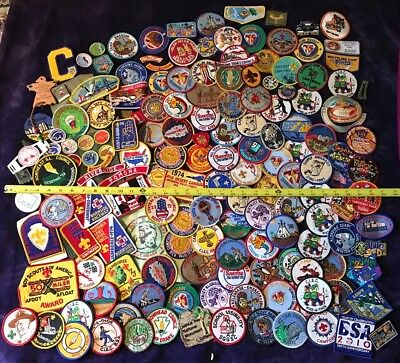 HUGE VINTAGE BOY SCOUTS OF AMERICA BSA 1970s 1980s 150+ PATCH BADGE LOT & MORE